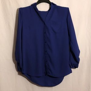 The Limited Blue Button Down Shirt